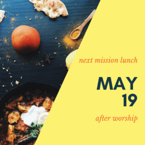 mission lunch 5/19